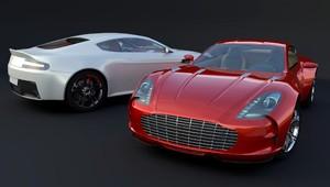 Gruppenfoto Sportwagen Rot und Weiß
